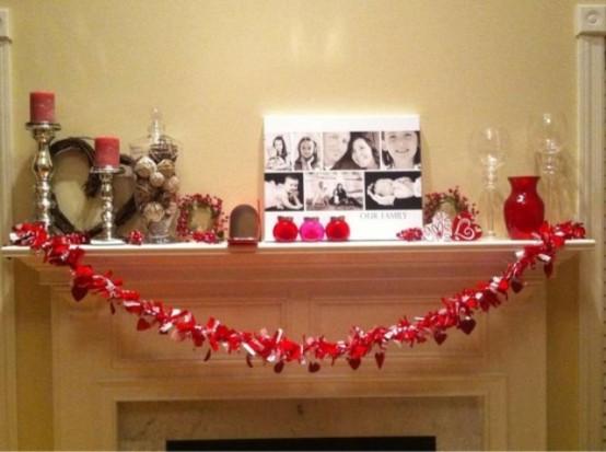 valentines day mantel decor ideas 13 554x413 65 вещей, способных сделать день всех влюбленных 14 февраля действительно особенным