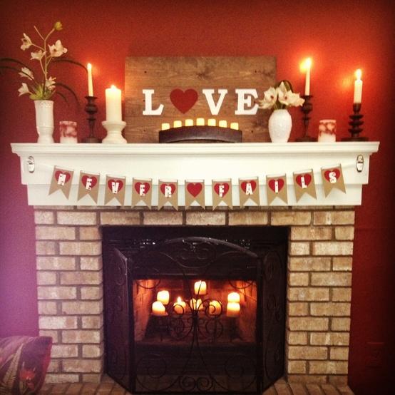 valentines day mantel decor ideas 15 65 вещей, способных сделать день всех влюбленных 14 февраля действительно особенным