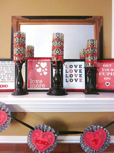 valentines day mantel decor ideas 16 65 вещей, способных сделать день всех влюбленных 14 февраля действительно особенным