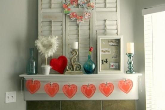 valentines day mantel decor ideas 17 554x368 65 вещей, способных сделать день всех влюбленных 14 февраля действительно особенным