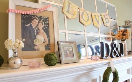 valentines day mantel decor ideas 18 554x347 65 вещей, способных сделать день всех влюбленных 14 февраля действительно особенным