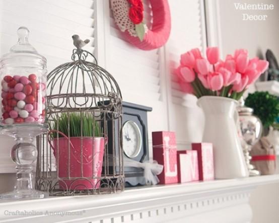 valentines day mantel decor ideas 56 554x415 65 вещей, способных сделать день всех влюбленных 14 февраля действительно особенным