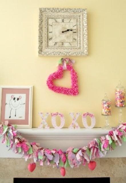 valentines day mantel decor ideas 22 65 вещей, способных сделать день всех влюбленных 14 февраля действительно особенным