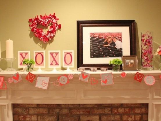 valentines day mantel decor ideas 23 554x415 65 вещей, способных сделать день всех влюбленных 14 февраля действительно особенным