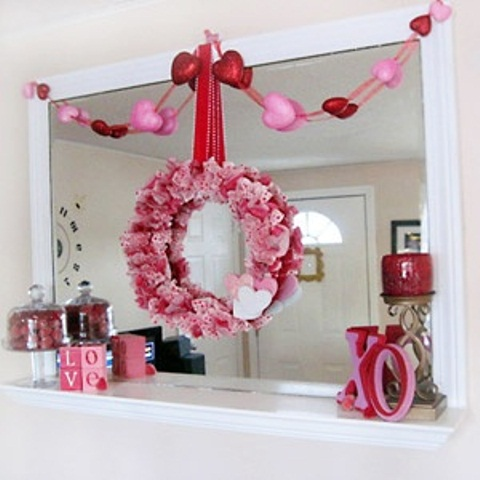 valentines day mantel decor ideas 38 65 вещей, способных сделать день всех влюбленных 14 февраля действительно особенным