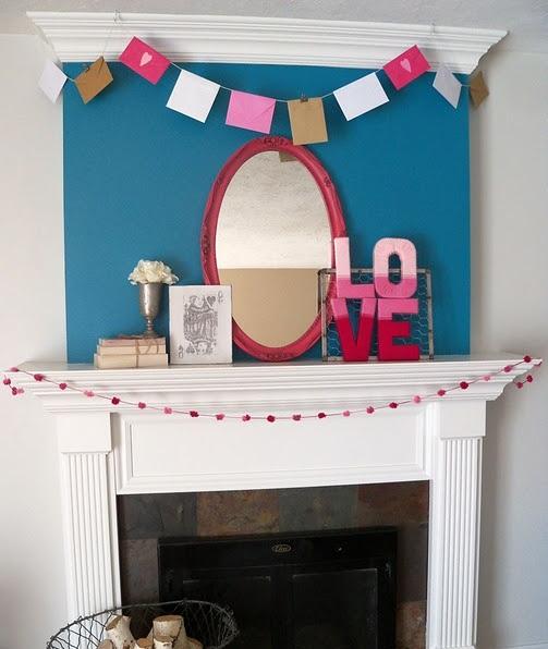 valentines day mantel decor ideas 41 65 вещей, способных сделать день всех влюбленных 14 февраля действительно особенным