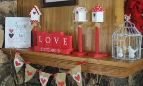 valentines day mantel decor ideas 43 554x335 65 вещей, способных сделать день всех влюбленных 14 февраля действительно особенным