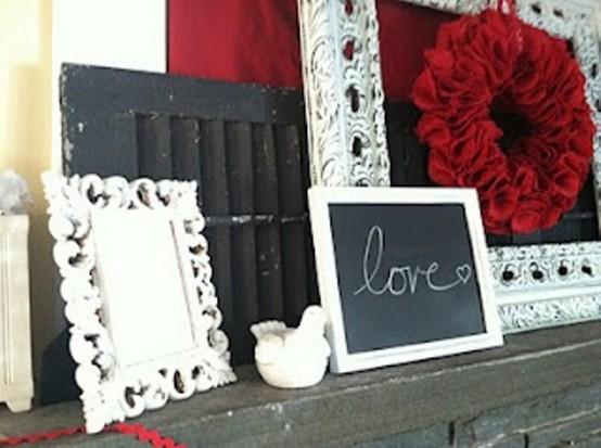 valentines day mantel decor ideas 44 554x413 65 вещей, способных сделать день всех влюбленных 14 февраля действительно особенным