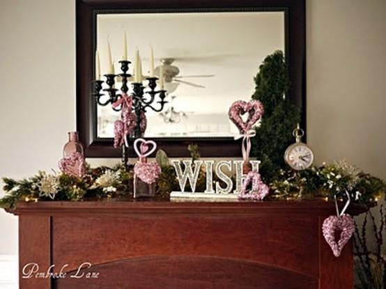 valentines day mantel decor ideas 57 554x415 65 вещей, способных сделать день всех влюбленных 14 февраля действительно особенным