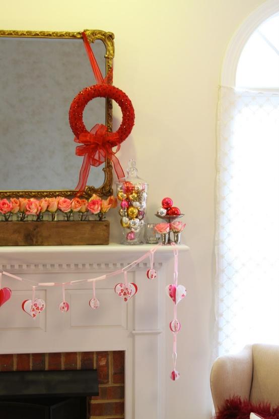 valentines day mantel decor ideas 6 65 вещей, способных сделать день всех влюбленных 14 февраля действительно особенным