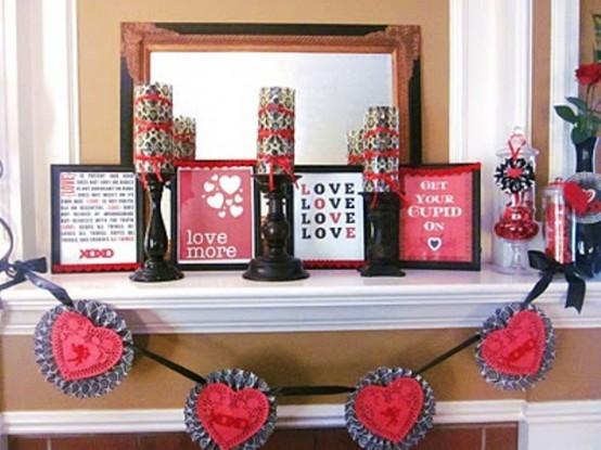 valentines day mantel decor ideas 62 554x415 65 вещей, способных сделать день всех влюбленных 14 февраля действительно особенным