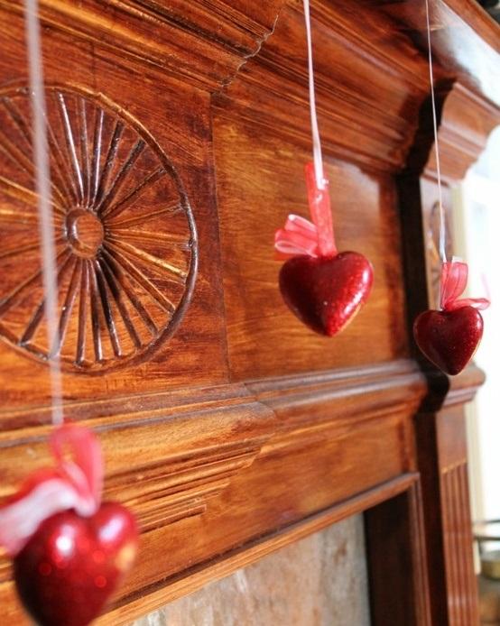 valentines day mantel decor ideas 7 65 вещей, способных сделать день всех влюбленных 14 февраля действительно особенным