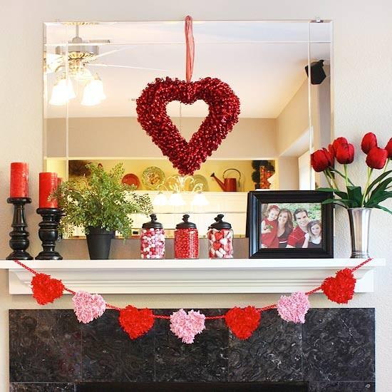 valentines day mantel decor ideas 8 65 вещей, способных сделать день всех влюбленных 14 февраля действительно особенным
