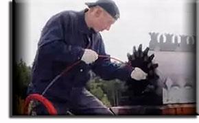 Механическая чистка каминов