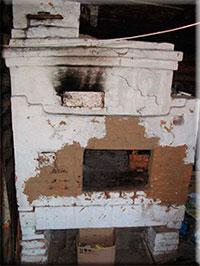 Белим  печь от трещин