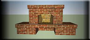 Чертеж Камин с аркой