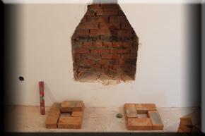 Встроенный камин в стену