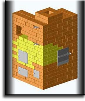 Печь-каменка простой конструкции.