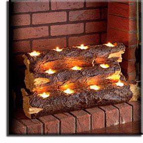Как украсить   камин