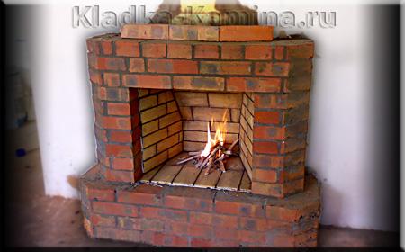 Камин дровяной открытого типа