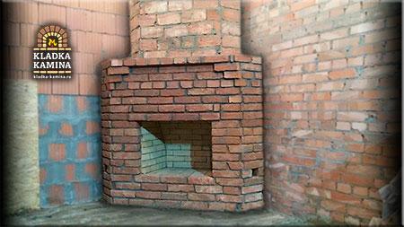Угловой камин Чукотский
