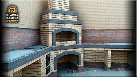 Строительство кирпичных барбекю с казаном