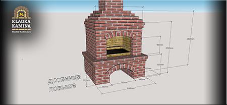 Проект камина-мангала