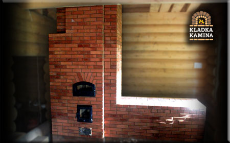 Печь с лежанкой и хлебной камерой