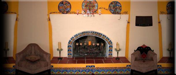 Камины в испанском стиле