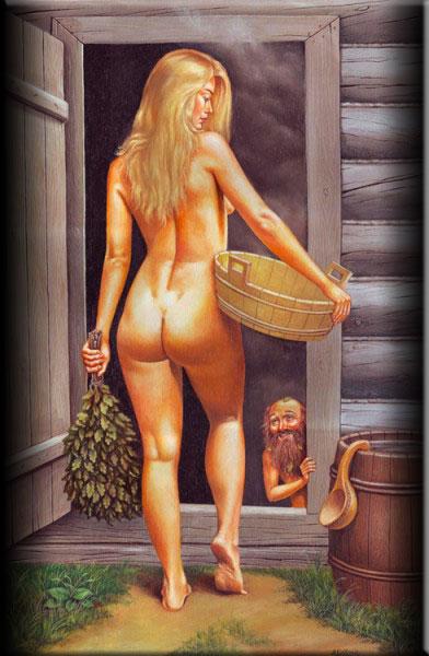в бане обитал сердитый дух «банник»