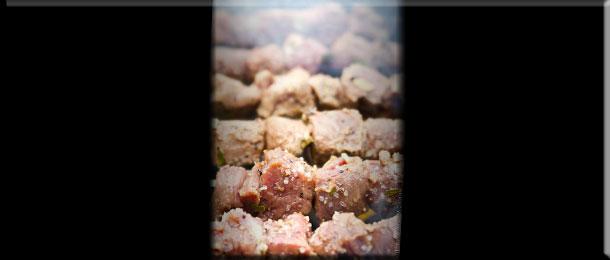 Шашлык из говядины на гриле