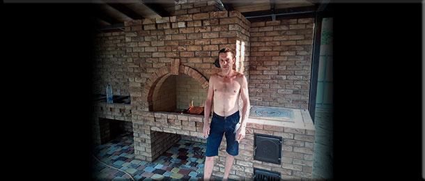 Мастер-печник Евгений Дмитриев