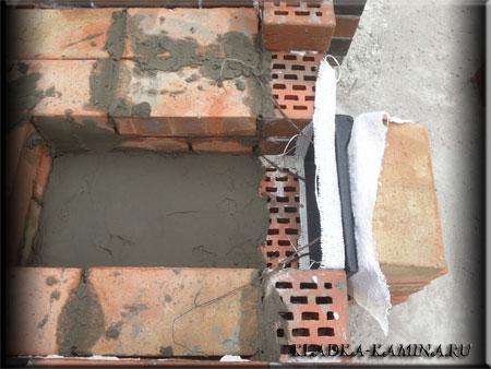 Огеупорная кладка мангала