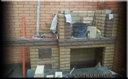 Вид  мангала - фасад