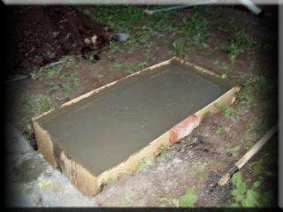 Опалубка с бетоном