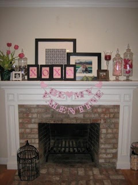 valentines day mantel decor ideas 12 65 вещей, способных сделать день всех влюбленных 14 февраля действительно особенным
