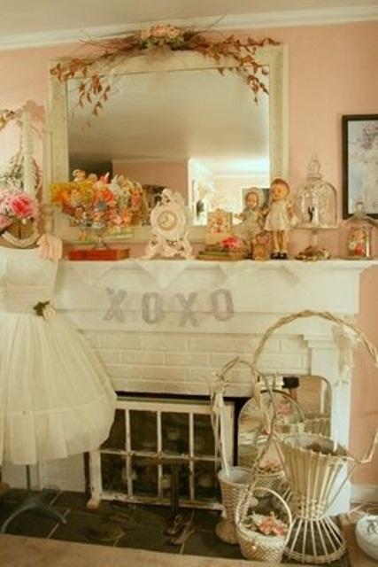 valentines day mantel decor ideas 25 65 вещей, способных сделать день всех влюбленных 14 февраля действительно особенным