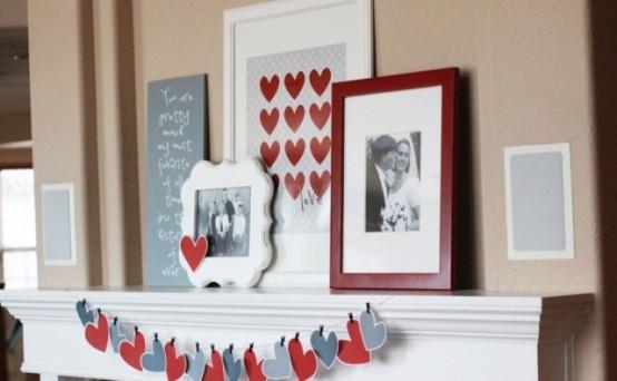 valentines day mantel decor ideas 27 554x342 65 вещей, способных сделать день всех влюбленных 14 февраля действительно особенным