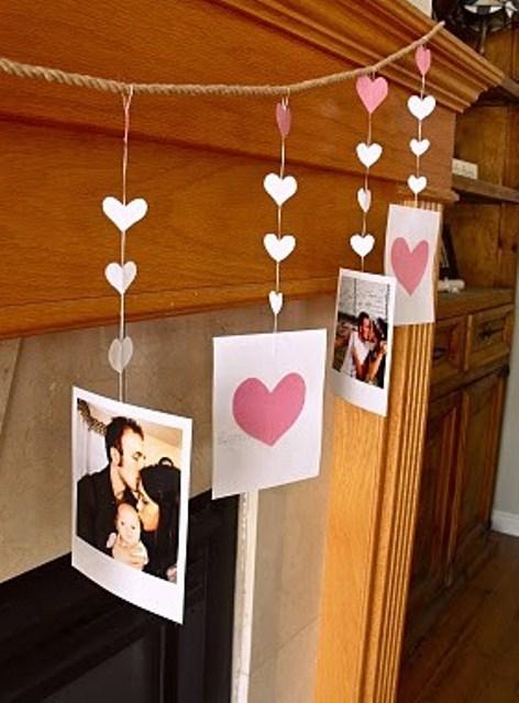 valentines day mantel decor ideas 30 65 вещей, способных сделать день всех влюбленных 14 февраля действительно особенным