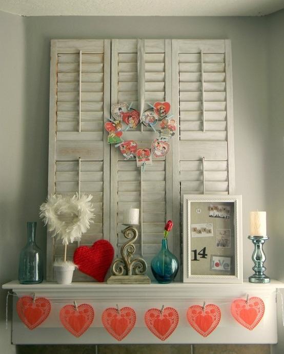 valentines day mantel decor ideas 35 65 вещей, способных сделать день всех влюбленных 14 февраля действительно особенным