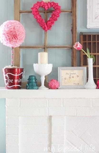 valentines day mantel decor ideas 4 65 вещей, способных сделать день всех влюбленных 14 февраля действительно особенным