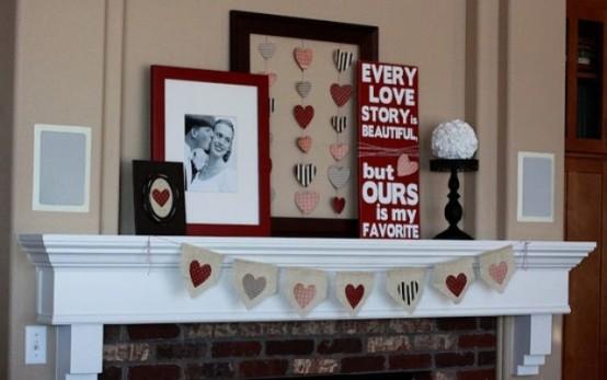 valentines day mantel decor ideas 45 554x347 65 вещей, способных сделать день всех влюбленных 14 февраля действительно особенным