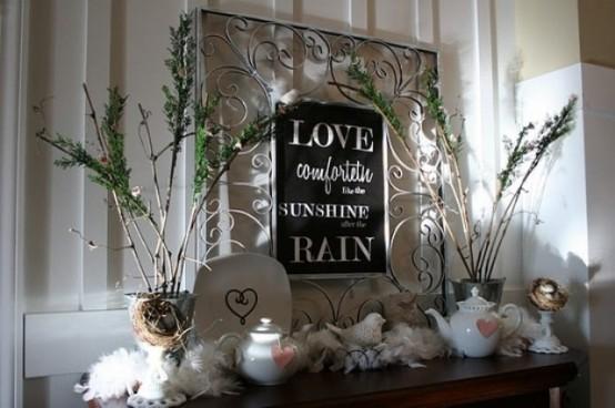 valentines day mantel decor ideas 46 554x368 65 вещей, способных сделать день всех влюбленных 14 февраля действительно особенным