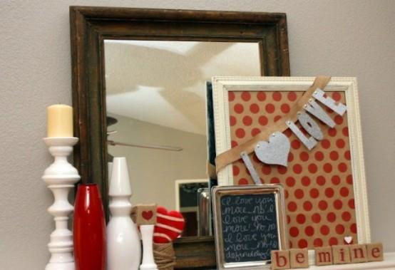 valentines day mantel decor ideas 50 554x379 65 вещей, способных сделать день всех влюбленных 14 февраля действительно особенным
