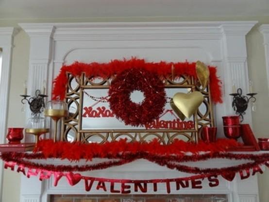valentines day mantel decor ideas 63 554x415 65 вещей, способных сделать день всех влюбленных 14 февраля действительно особенным