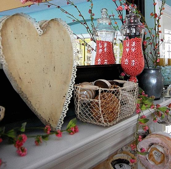 valentines day mantel decor ideas 65 65 вещей, способных сделать день всех влюбленных 14 февраля действительно особенным