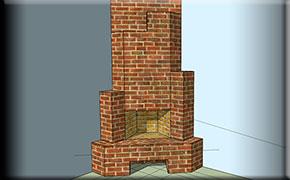 Проект углового камина