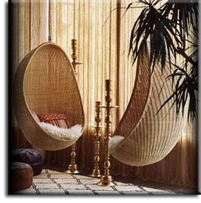 Подвесные кресла-качалки