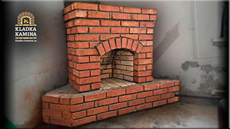 камин встроен в стену