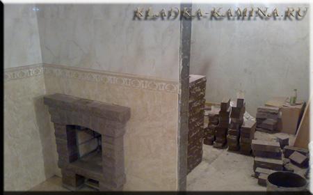 Печь-Каменка совмещённая  с камином